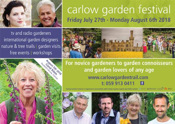 Carlow Garden Festival 2018 Flyer